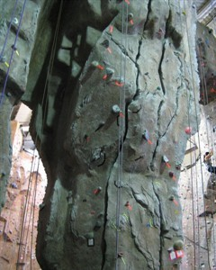 cracks and realistic climbing walls
